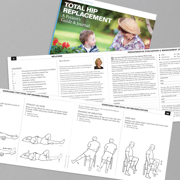 Goodall Hospital HIP/KNEE Surgery Guide & Journal